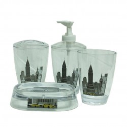 JGO 4PCS NEW YORK BAÑO