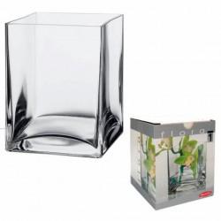 jarrón cristal rectangular