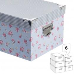 Caja decorada vichy/flores 3