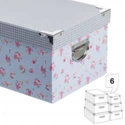 Caja decorada vichy/flores 4