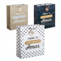 Bolsa de papel decorada amor