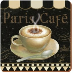 6 POSAVASOS PARIS CAFE