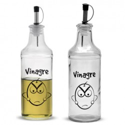 VINAGRERA CRISTAL 350ML DECORADO