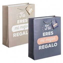 Bolsa de papel regalo L