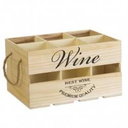 caja botellero madera