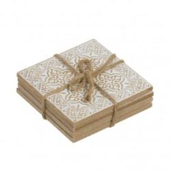 posavasos cuadrados madera