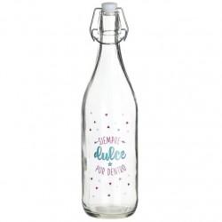 botella de cristal 1L dulce