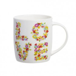 taza cerámica love