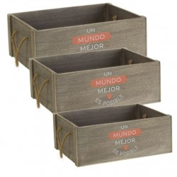 """caja de madera """"mundo"""" M"""