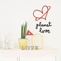 VINILO PLANET LOVE 28X31CM