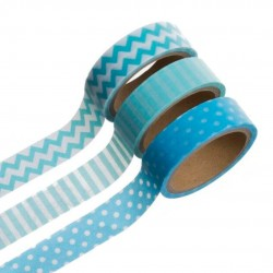 WASHI TAPE 5MT AZULES