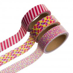 WASHI TAPE 5MTS ROSAS