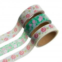 WASHI TAPE 5MTS FLORES