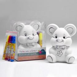 Hucha ratón para colores