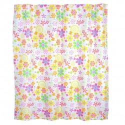 cortina de baño flores colores