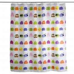 cortina de baño pajaros