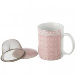 taza de te rosa