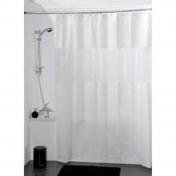 cortina de baño blanca