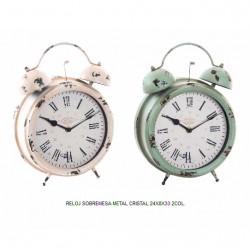 reloj sobremesa metal