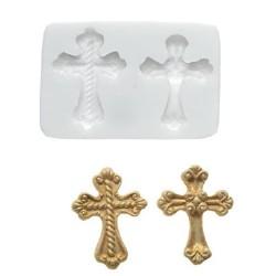 molde silicona fondant cruz