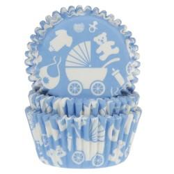 cápsulas cupcakes bebé azul