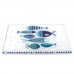 TABLA 20X30 PECES AZULES