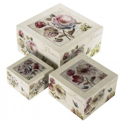 caja flores madera pequea - Cajas De Madera Decoradas