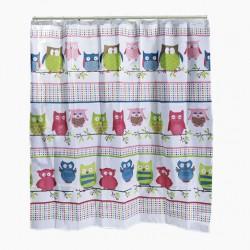 cortina de baño buhos