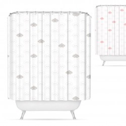 cortina de baño nubes