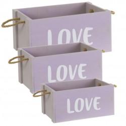 Caja de madera LOVE p