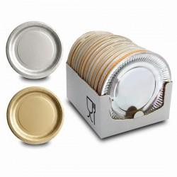 platos cartón oro/plata