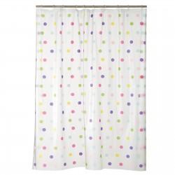cortina de baño lunares