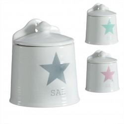 salero cerámica estrella