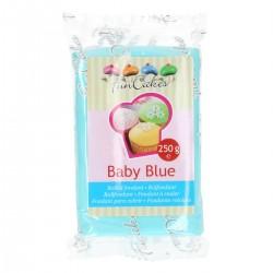 Fondant azul bebe