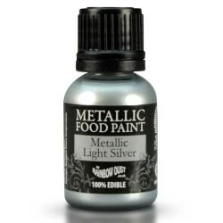 pintura comestible metálica plata