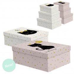 Caja cartón gatos 1