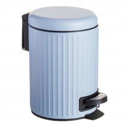 papelera baño azul