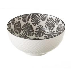 Bol porcelana hojas
