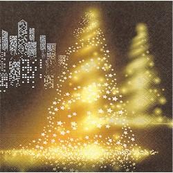 Servilletas papel navidad luces