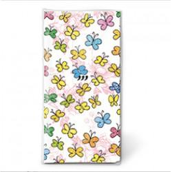 Pañuelos papel mariposas