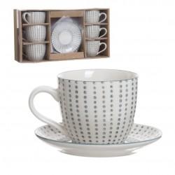 set tazas plato cafe