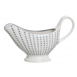 salsera cerámica topos