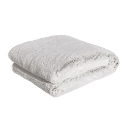 Manta blanca sofá