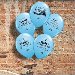 globos frases azules