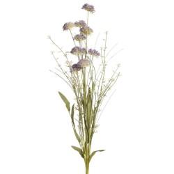 flor artificial malva