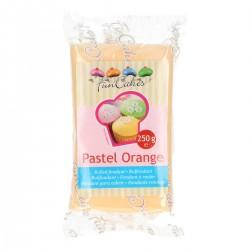 fondant naranja pastel