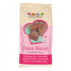 preparado bizcocho chocolate