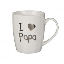 TAZA I LOVE PAPA 10X8CM