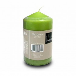 vela cilindrica verde 10cm