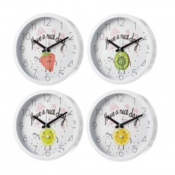 reloj pared frutas